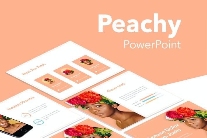 Персиковый Шаблон PowerPoint