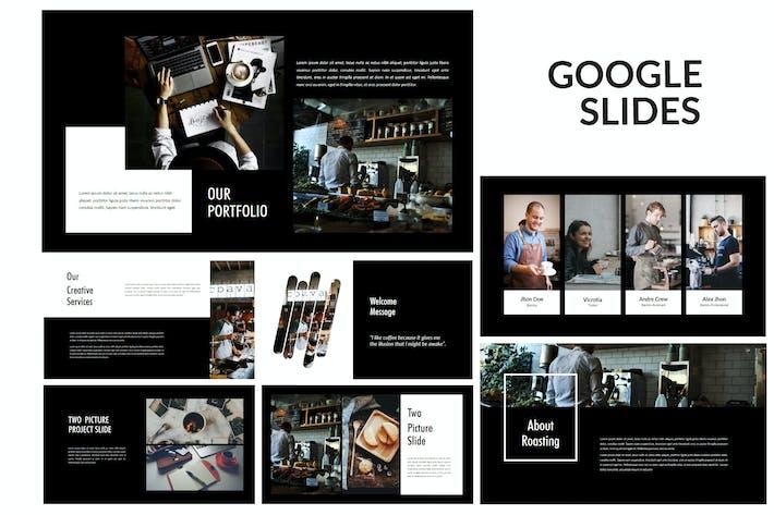 Обжарка - Красивые творческие Google Слайды Темные