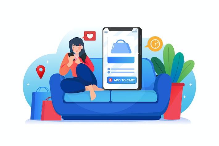 Thumbnail for Online shopping concept illustration