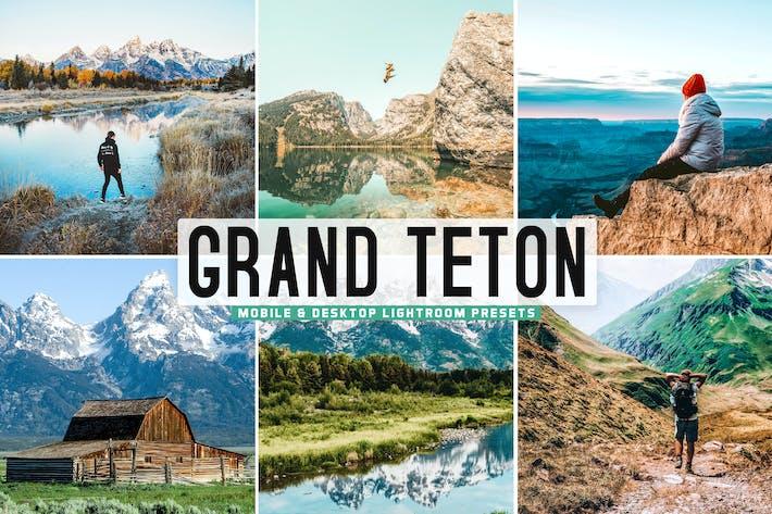 Thumbnail for Grand Teton Mobile & Desktop Lightroom Presets