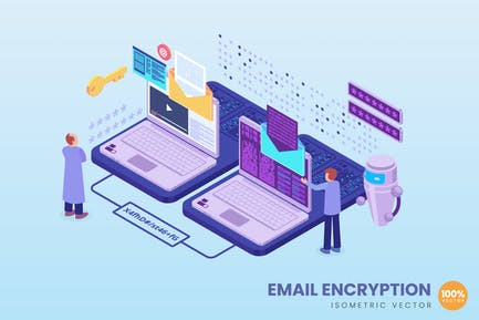 Isometric Email Encryption Concept