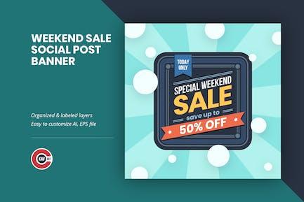 Weekend Sale Social Media Post Banner