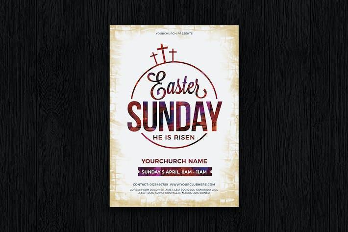 Thumbnail for Flyer Plakat Ostern Sonntag