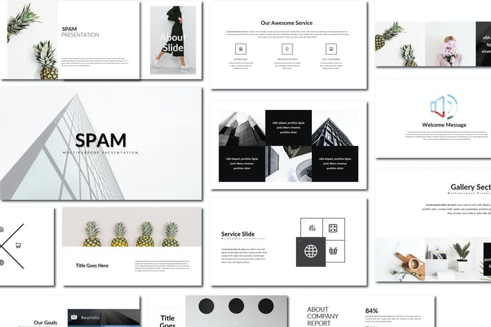 Thumbnail for Spam | Powerpoint Templates