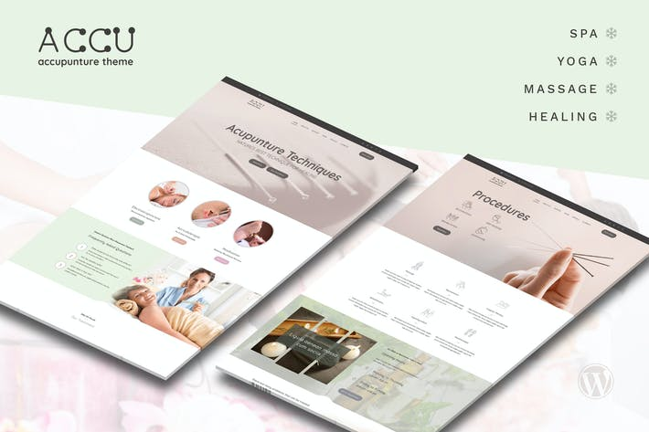 Accu - Akupunktur, Massage WordPress Thema