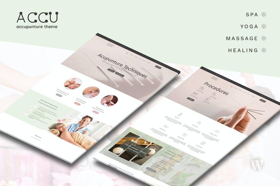 Accu - Acupuncture, Massage WordPress Theme