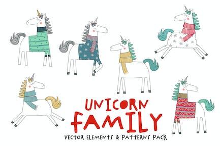 Einhorn-Familie Pack