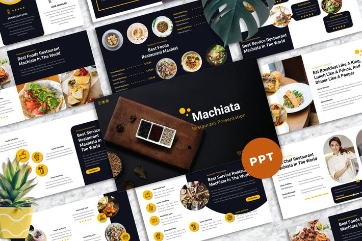 Thumbnail for Machiata - Restaurant Powerpoint Templates