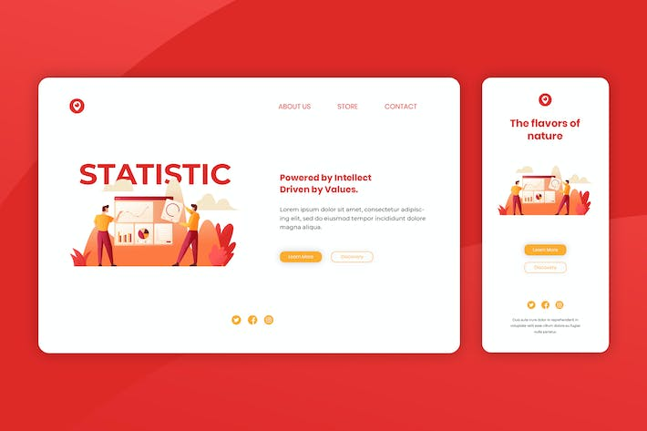 Cover Image For Illustration Landing Page & Onboarding Mobile App