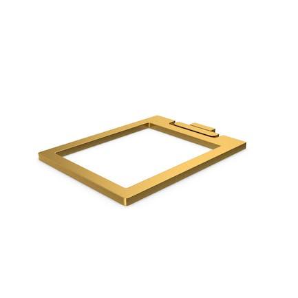Gold-Symbol-Zwischenablage klar