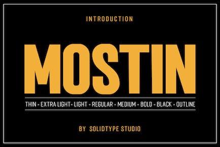 Mostin Typeface