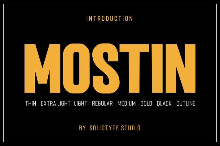 Thumbnail for Mostin Typeface