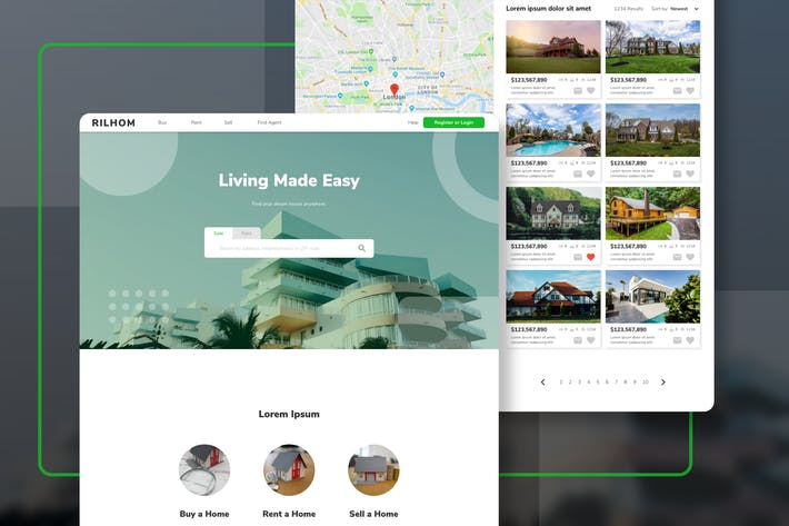 Thumbnail for RILHOM - Real Estate Homepage Template