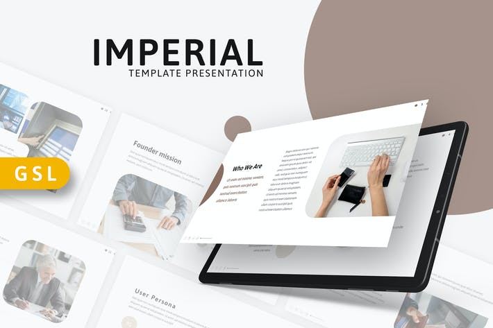 Imperial - Современный шаблон слайдов Google
