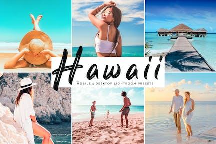 пресеты для мобильных и настольных компьютеров Гавайи