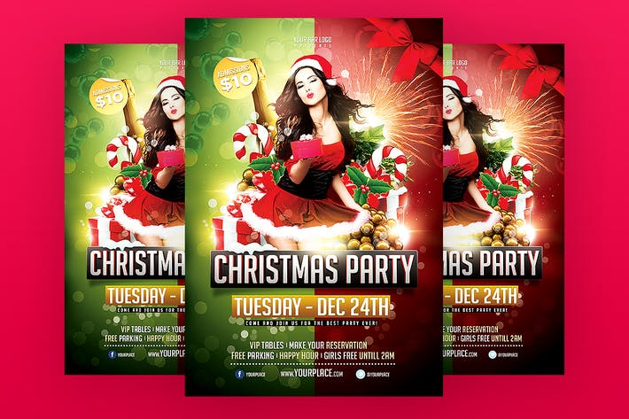 christmas party flyer template by odin design on envato elements