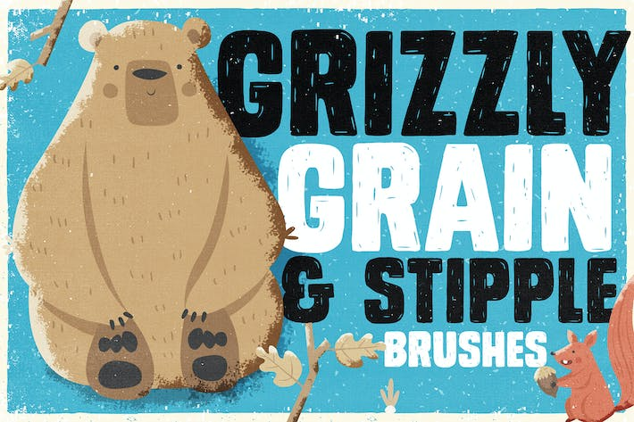 Thumbnail for Grizzly Grain & Stipple Shader Brushes