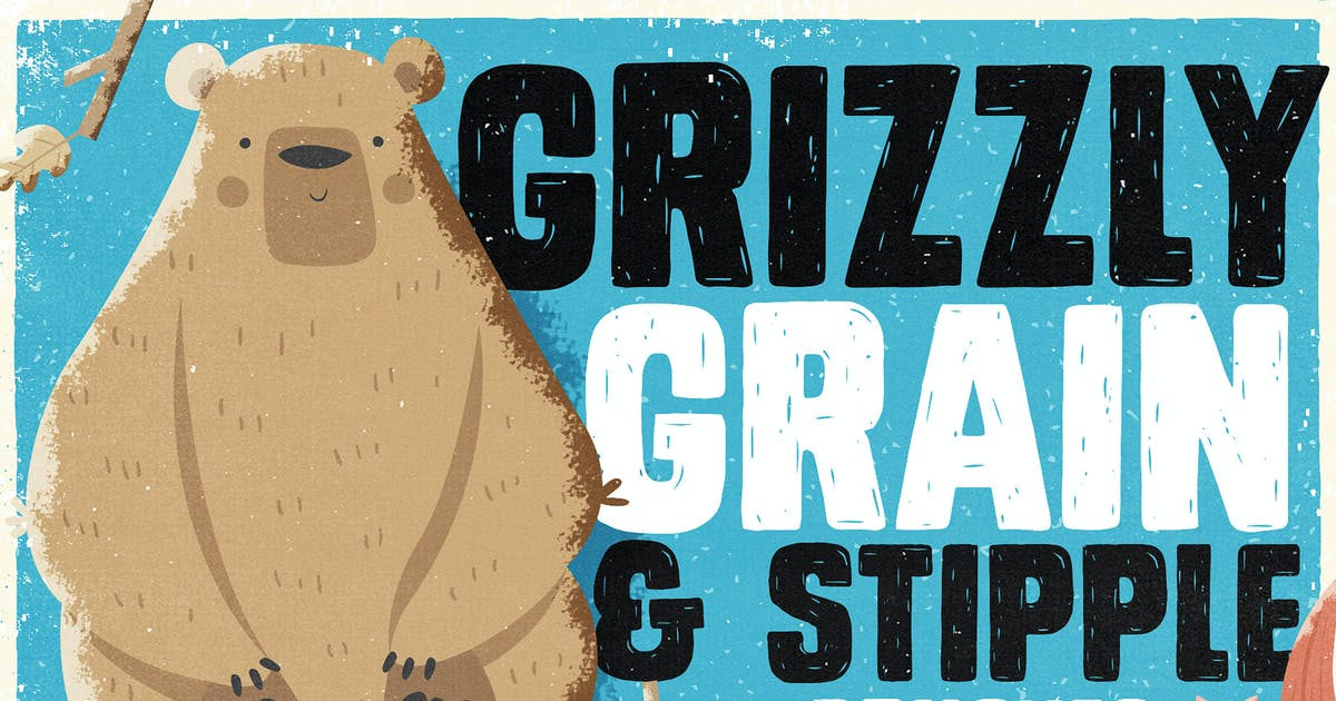 Download Grizzly Grain & Stipple Shader Brushes by Layerform
