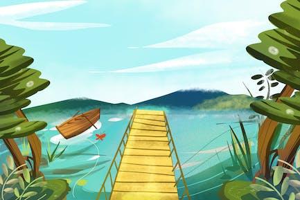 See - Hintergrund der Ilustration