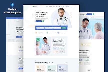 Medenin — Medizin & Gesundheit Website-Vorlage