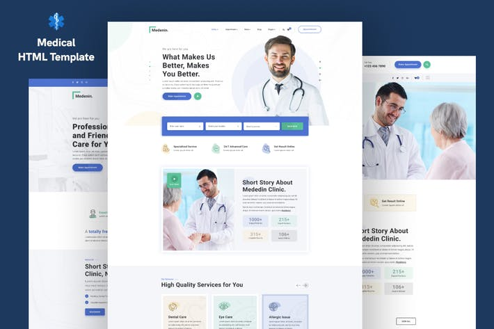Thumbnail for Medenin — Medical & Health Website Template
