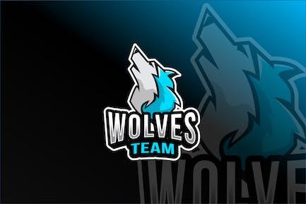 Wolves Team Esport Logo Template