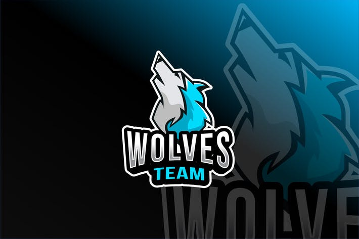 Thumbnail for Wolves Team Esport Logo Template