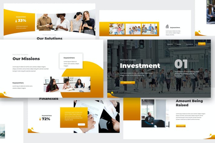 Thumbnail for Investment Pitch Deck Keynote Template