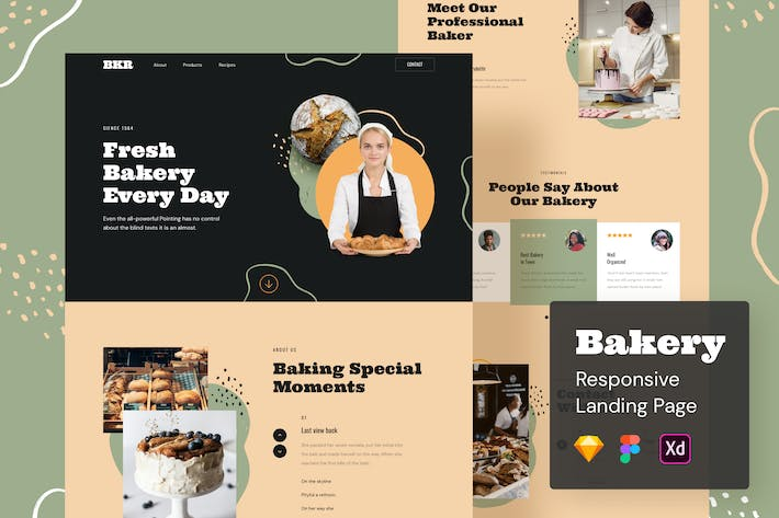 Thumbnail for Bakery Responsive Landing Page