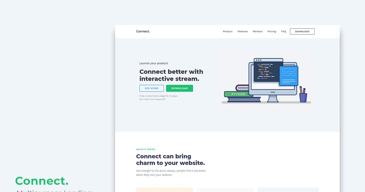 Download Connect Multipurpose Landing Page Template by YDirectionThemes