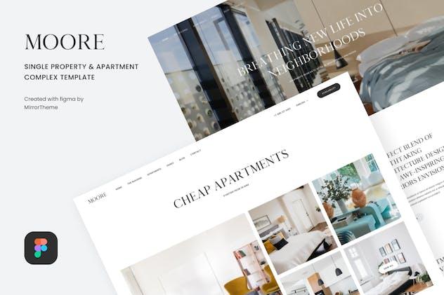 Moore - Single Property UI Template