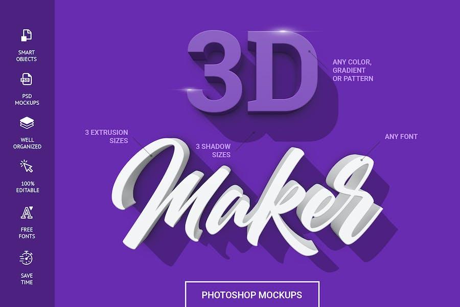 3D Maker - Text Effects