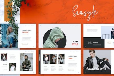 SAMSTYLE - Creative Powerpoint Template