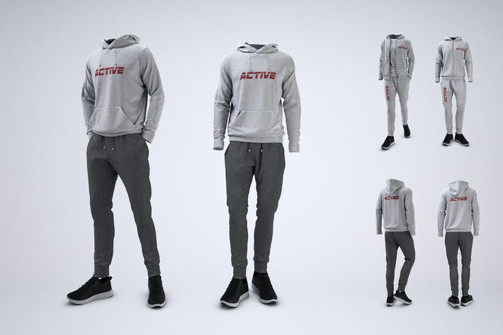 Sweatsuit or Fleece Tracksuit Mock-Up