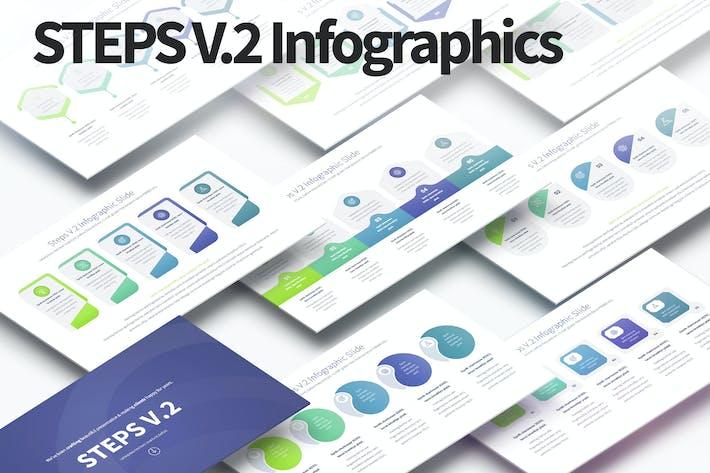 Шаги V.2 - Слайды Инфографика PowerPoint