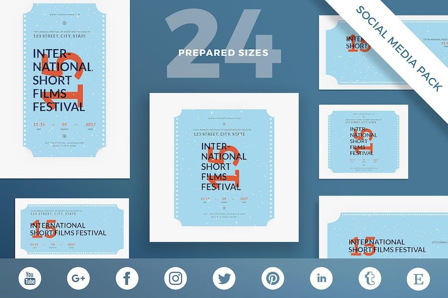 Film Festival Social Media Pack Template