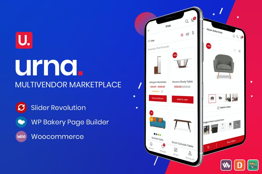 Urna - All-in-one WooCommerce WordPress Theme - product preview 0