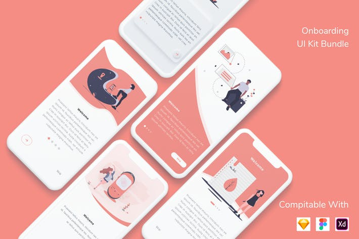 Thumbnail for Onboarding UI Kit Bundle