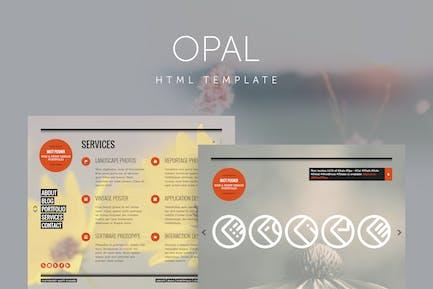 Opal - Minimal Portfolio Template
