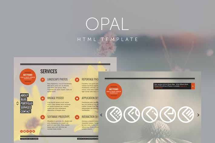 Thumbnail for Opal - Minimal Portfolio Template