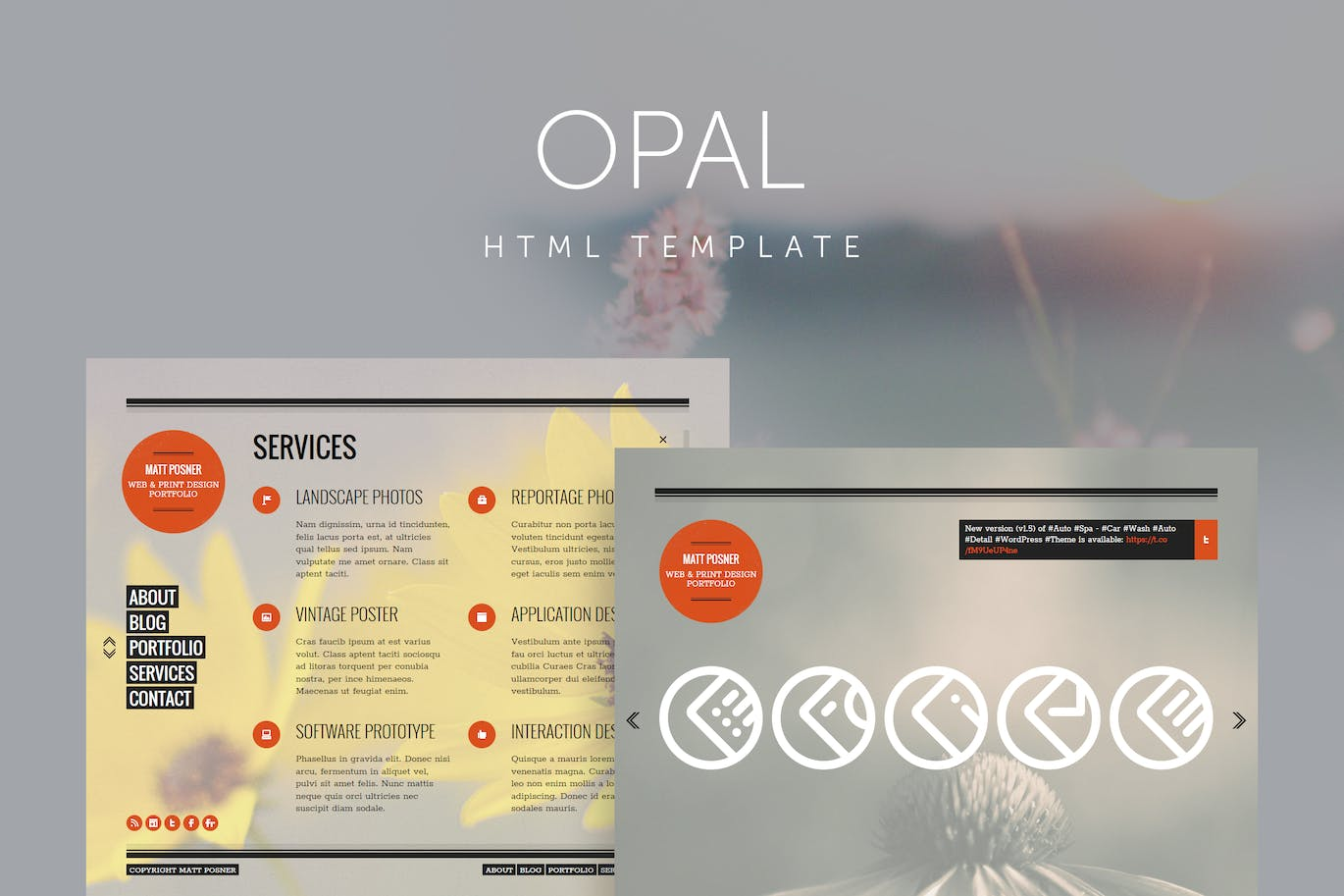Opal - Minimal Portfolio Template by QuanticaLabs on Envato Elements
