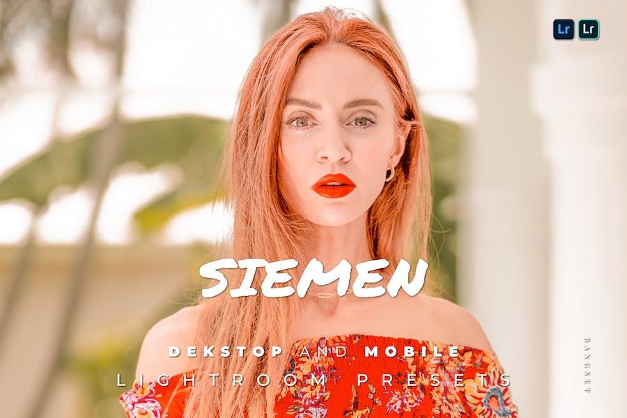 Siemen Desktop and Mobile Lightroom Preset