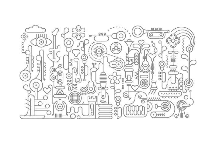 Thumbnail for Music Workshop line art vector illustration