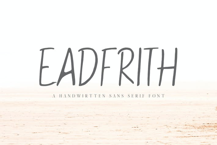 Thumbnail for Eadfrith Handwirtten Sans Serif Font