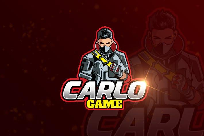Thumbnail for Carlo Mascot & eSports Gaming Logo