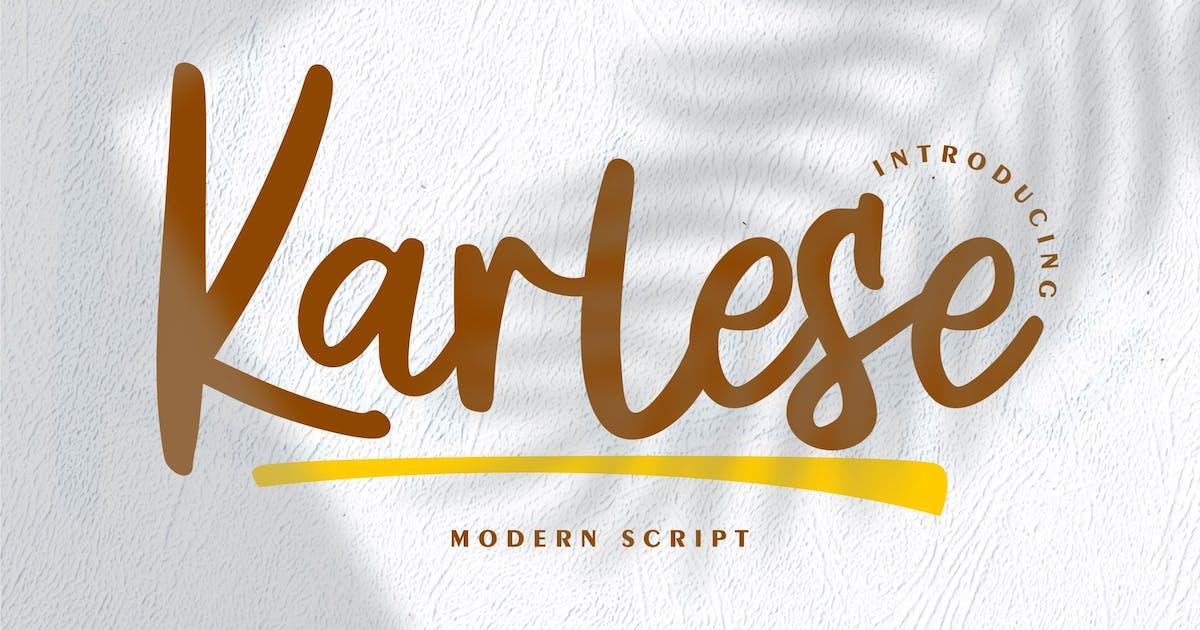 Download Karlese   Modern Script by Vunira