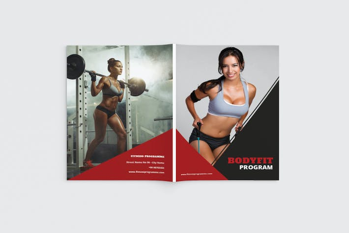 Thumbnail for Bodyfit - A4 Fitness & Gym Brochure Template