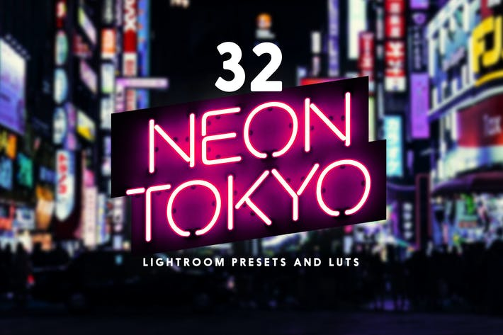 Thumbnail for Neon Tokyo - 32 Lightroom Presets and LUTs