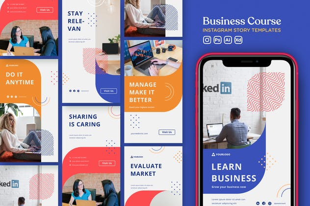 Instagram Story Template Vol.33 Business Course - product preview 3
