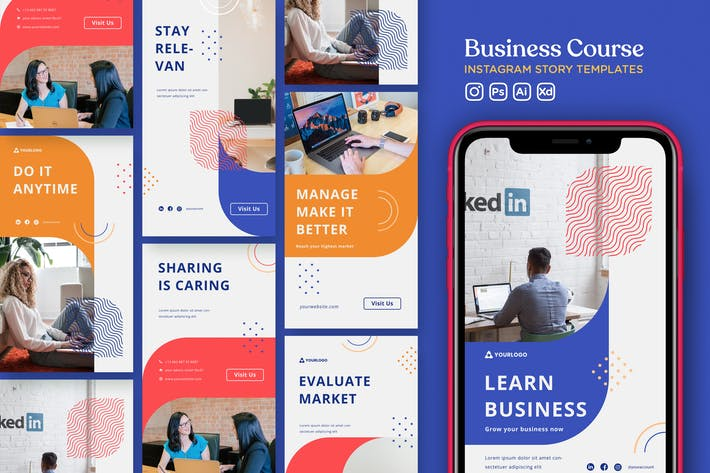 Thumbnail for Instagram Story-Vorlage Vol.33 Business Course